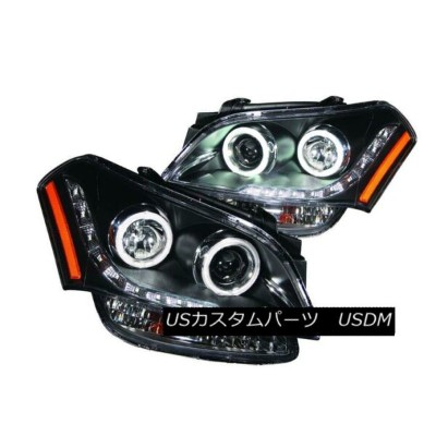 ヘッドライト ANZO 121469 Set of 2 Black CCFL Halo Projector Headlights for 10-11 Kia Soul ANZO 121469 10...