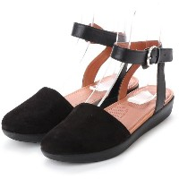 【SALE 40%OFF】フィットフロップ fitflop COVA CLOSED-TOE SANDALS - SUEDE (Black) レディース