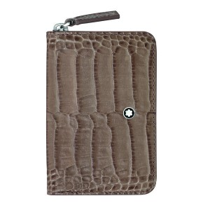 レディース MONTBLANC Meisterstück Selection Coin Case with Zip Taupe 小銭入れ ドーブグレー