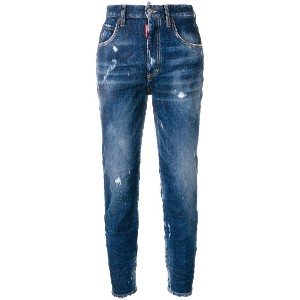 Dsquared2 high waist cropped Twiggy jeans - ブルー