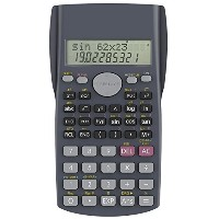(HELECT 関数電卓) Helect H1002 2-Line Engineering Scientific Calculator-H-1002-Calculator-SCI-BK