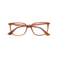 Gucci Eyewear square frame glasses - ブラウン