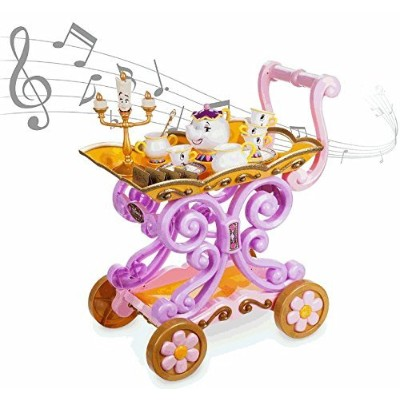 Disney(ディズニー) Beauty and the Beast ''Be Our Guest'' Singing Tea Cart Play Set 美女と野獣 ポッツ夫人とチップ...