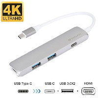 Verbatim USB ハブ USB-C usb3.0ポート アダプター usb type c ハブ USB HDMI USB3.0 MacBook2016 MacBook Pro...