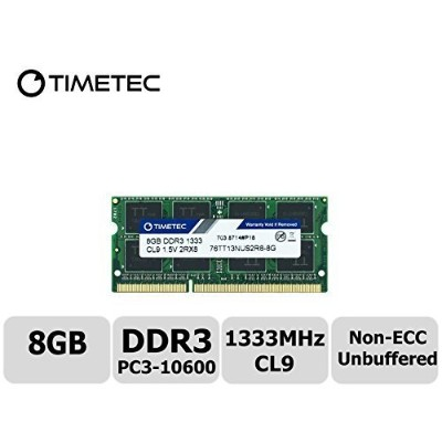 Timetec Hynix IC 8GB ノートPC用メモリ DDR3 1333 MHz PC3 10600 1.5 v 204 Pin SODIMM 永久保証 (8GB)