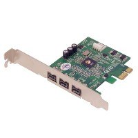 SIIG NN-FW0012-S1 - FireWire adapter - PCIe low profile - FireWire 800 x 3