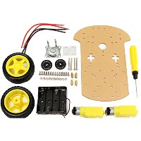 ILS - Smart Motor Robot Car Battery Box Chassis Kit DIY Speed Encoder For Arduino