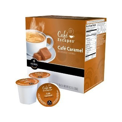 Keurig (キューリグ) Cafe Escapes  カフェキャラメル Kカップ 24個【並行輸入品】