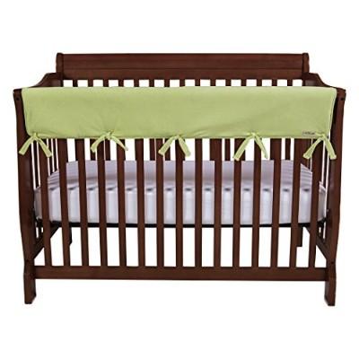 Trend Lab Fleece CribWrap Rail Cover for Long Rail, Sage, Wide for Crib Rails Measuring up to 18...