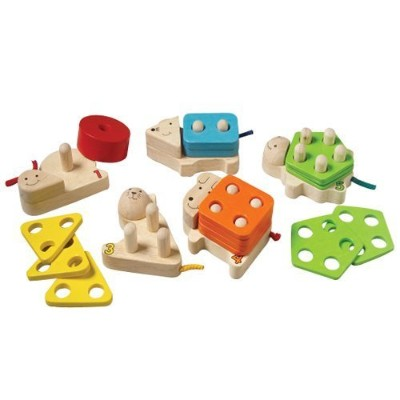 Wood Number Sort Animal Blocks For Kids by Constructive Playthings