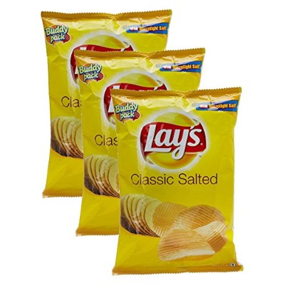 Lays Classic Salted Chips, 52 gram- India - Pack of 3 - 並行輸入品
