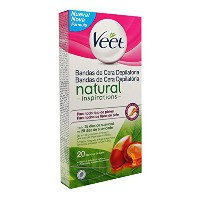 Veet Natural Inspirations Legs And Body Bands Depilatory Wax X20 [並行輸入品]