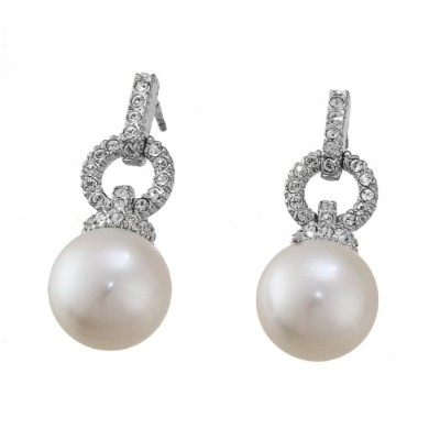 イヤリングOliver Weber Earrings Prime Pearl Rhodium Crystal[並行輸入品]