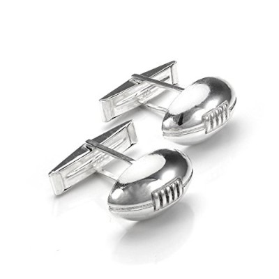 Sayers London Sterling Silver Rugby Ball Cufflinks