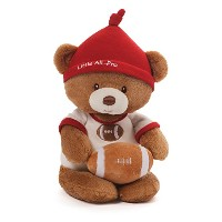 Gund Baby Teddy Bear and Rattle, Little All Pro Football by GUND