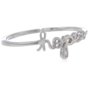 """Shy By Se """" Hope """" Ring with Diamondベゼル"""