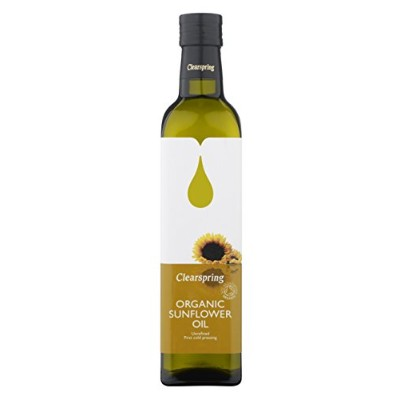 Clearspring Organic Sunflower Frying Oil 500 ML (order 6 for trade outer) / クリアスプリングオーガニックひまわり油フライパン...