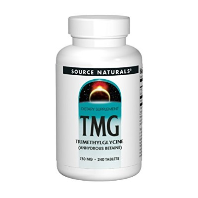 海外直送品 Source Naturals TMG (Trimethylglycine), 240 Tabs 750 MG