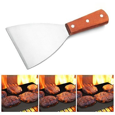 (Stainless Steel (1)) - Adorox Grill Griddle Scraper Stainless Steel Commercial Grade 21cm...