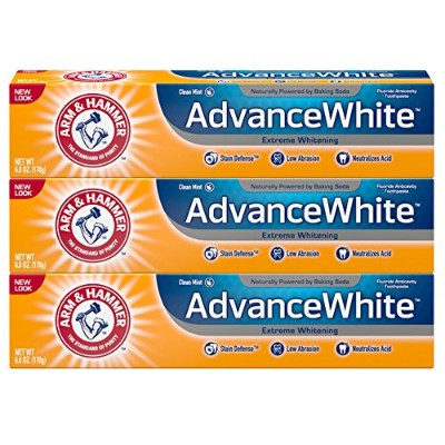 Arm & Hammer Advance White Toothpaste Baking Soda And Peroxide Fresh Mint, 6 oz by Arm & Hammer