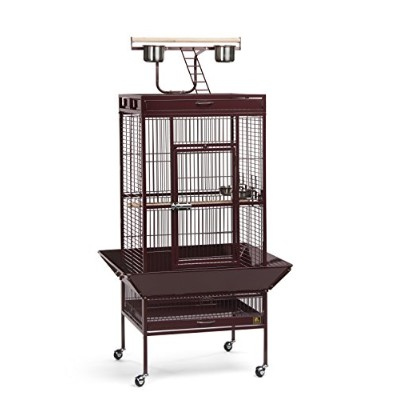 Prevue Pet Products 3152RED 24 in. x 20 in. x 60 in. Wrought Iron Select Cage - Garnet Red