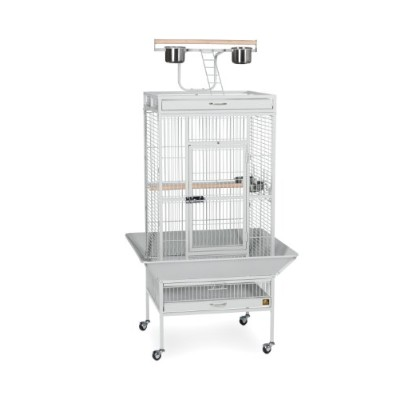 Prevue Pet Products 3152W 24 in. x 20 in. x 60 in. Wrought Iron Select Cage - Pewter