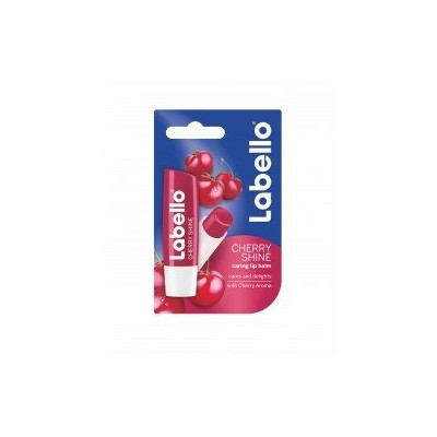 3 LABELLO CHERRY FRUITY SHINE LIP BALM STICK CARE BEAUTY SOFT SMOOTH SPF 10 NEW by Labello