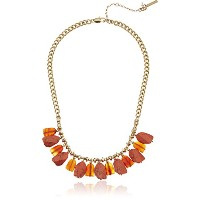 """Kenneth Cole New York """"コーラルCanyon """" ShakyミックスSemiprecious Coral Stone Necklace , 17"""" + 3"""" Extender"""