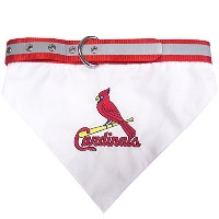 St. Louis Cardinals Dog Bandana Collar Medium