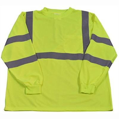 Petra Roc LTSL3-3X High-Visibility Class 3 T Shirt with Moisture Wicking Mesh Birdseye44; 3X