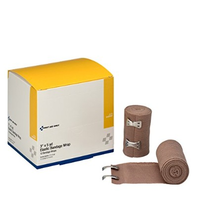 First Aid Only 3 X 5 Yd. Elastic Bandage, Latex-free With Two Fasteners, 12-Count Boxes by First...