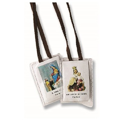 Our Lady of Mt。Carmel & St Simon Stock Pray For UsラミネートHoly Scapular inギフトバッグ