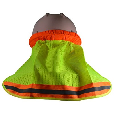 Petra Roc HNS-L High Visibility Neck Sun Shield for Hard Hats44; Lime