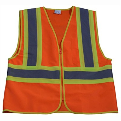 Petra Roc OV2-CB1-L-XL Safety Vest Ansi Class Ii Orange Solid Contrast Binding44; Large & Extra...