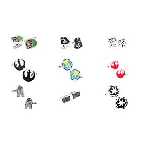 STAR WARS Assortment ( 9ペア) Cufflinks w /ギフトボックスby Athena
