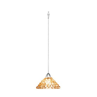 WAC Lighting QP-LED543-CD/CH Giselle Quick Connect LED Pendant Champagne Diamond Shade with Chrome...