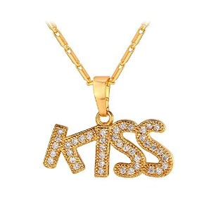 KissペンダントIced Outネックレスwithチェーン22インチ