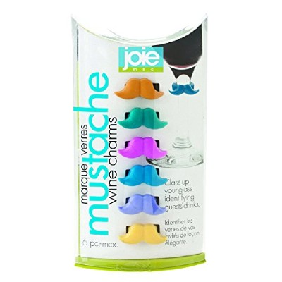 Joie Mustache Wine Charms - 6 Piece Set by Joie