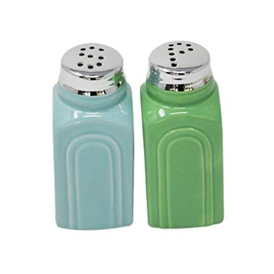 50s Retro Stoneware Salt and Pepper Shaker Set - by Home-X