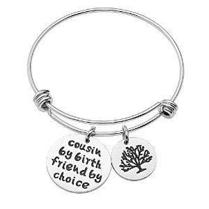 caromayバングルブレスレットCousin by Cousin Friend by Choice Tree of Life Inspirational Gifts for best...