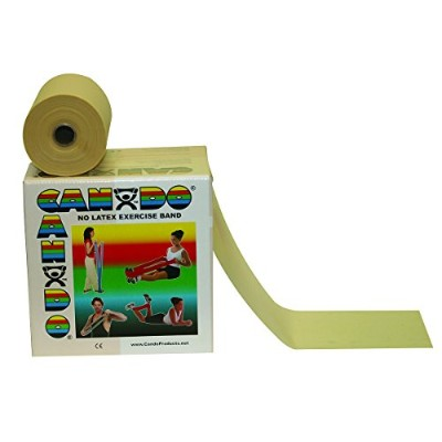 CanDo? Latex Free Exercise Band - 50 yard roll - Tan - XX-light