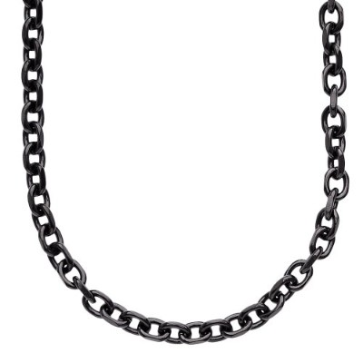 Iced Out Stainless Steel Anchor Chain - 5mm ブラック