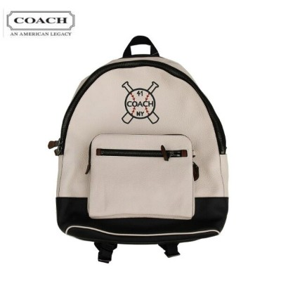 F26075/WEST Backpack With Baseball and Bats Motif バックパック リュックサック 本革 COACH コーチ Chark/Black/Black...
