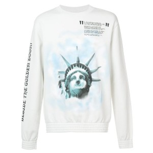 Off-White Liberty crew neck sweatshirt - ホワイト