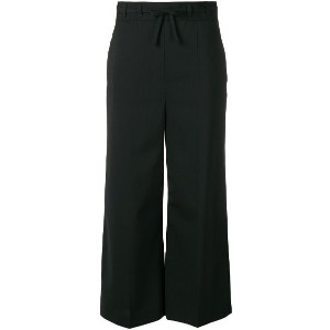 Red Valentino high-waisted cropped trousers - ブラック