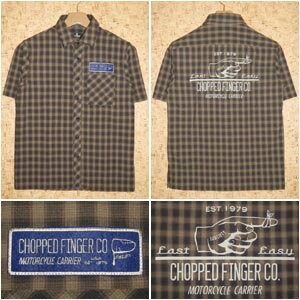 SUBCIETY [サブサエティ] 半袖シャツSBF1633 CHECK SHIRT S/S -CHOPPED FINGER-