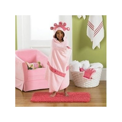 Baby / Child Jumping Beans? Pink Princess Hooded Bath Towel With Embroidered Hood Crown Offer Fun Fashion Infant by Jumping Beans