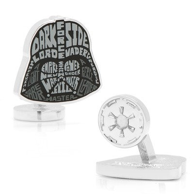 Cufflinks IncメンズStar Wars Darth Vader Typography Cufflinks