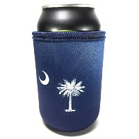 South Carolina Palmetto状態フラグネオプレンBeverage Insulator Beer Can and Bottle Coolie–Great for...