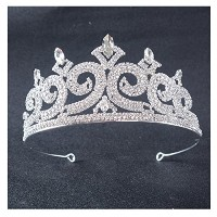 FF Fleu de lisティアラand Crowns for Womenシルバートーン